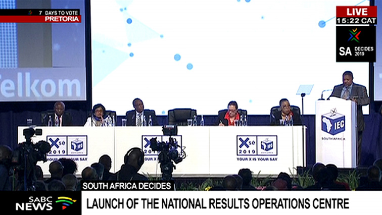 SABC News ROC P - IEC launches National Results Operation Centre