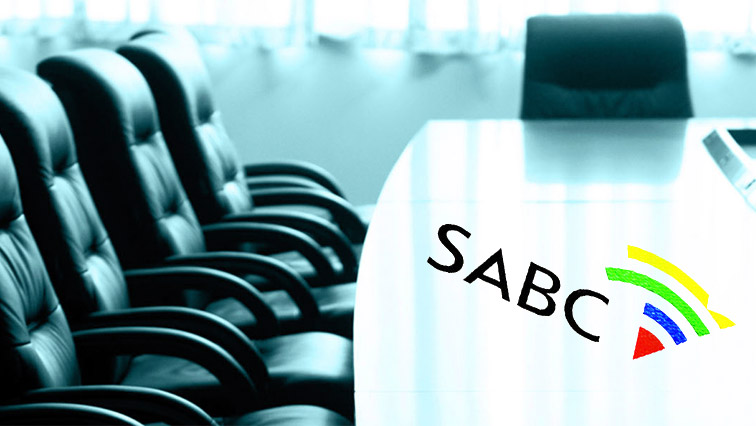 Black chairs and SABC logo