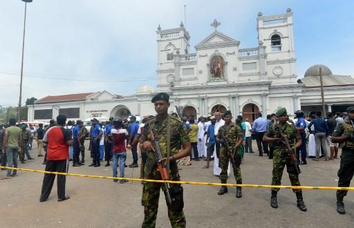 Sri Lankan security personnel