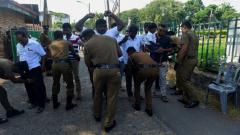 Sri Lankan policemen.