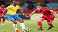 Tebogo Langerman of Sundowns and Dean Furman of Supersport