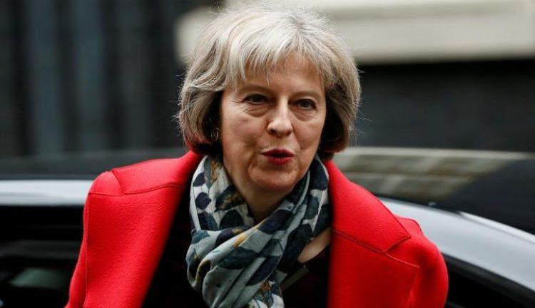 British Prime Minister Theresa May .
