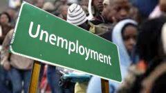 Unemployment placard