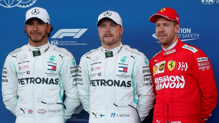 Valtteri Bottas in the middle