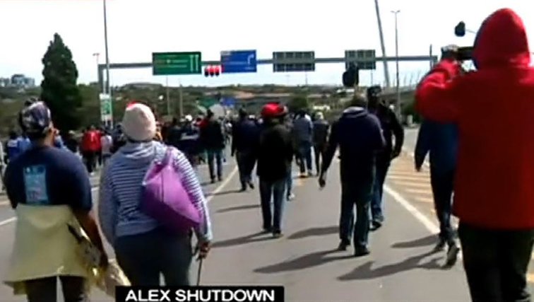 People marching to Sandton
