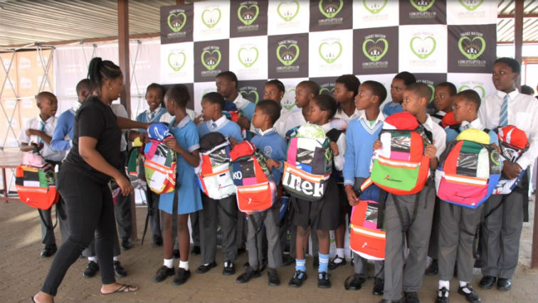 SABC News solar bag2 Lebo Tshangela - Solar school bag developed for disadvantaged learners