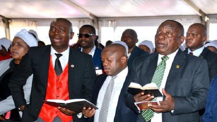 Sihle Zikalala and Cyril Ramaphosa at Methodist church in KZN.