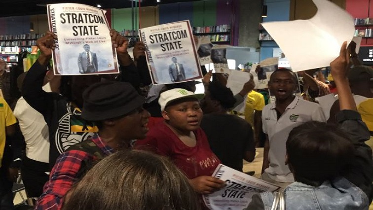SABC News GangsterState Twitter @PenguinBooksSA - Protesters disrupt launch of book Gangster State
