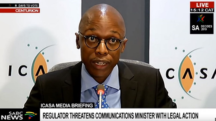 SABC News ICASA - Icasa threatens legal action against Minister Ndabeni-Abrahams