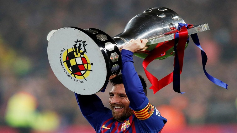 SABC News Lionel Messi Reuters - Messi fires Barca to eighth La Liga title in 11 years
