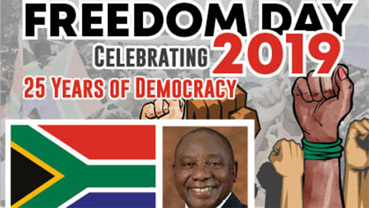 SABCNEWS FREEDOM DAY - SA celebrating 25 years of freedom