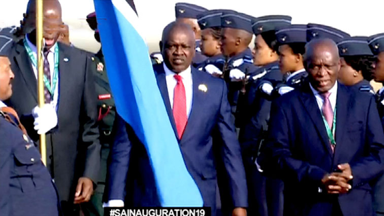 SABC NEWS Botswanas Masisi arrives - Heads of state start arriving for the Presidential inauguration