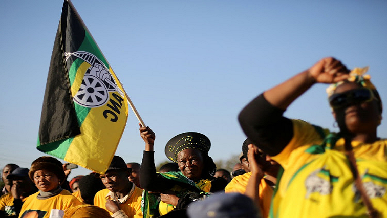 ANC supporters in their regalia