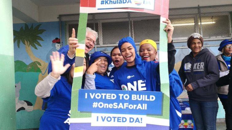 SABC News DA W Cape DA twitter - George DA supporters celebrate party's victory