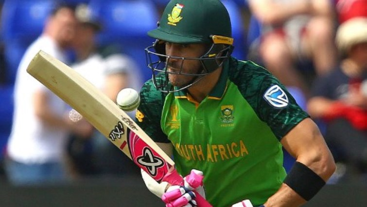 SABC News Du Plessis AFP - Du Plessis leads by example as South Africa beat Sri Lanka