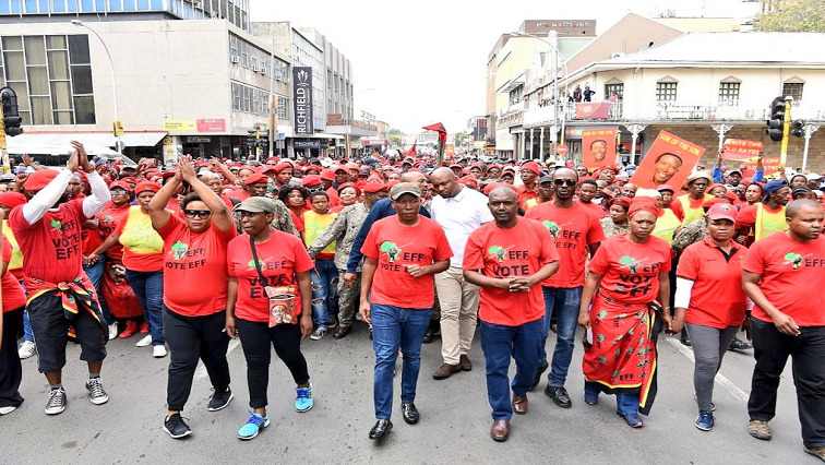 EFF supporters in the street