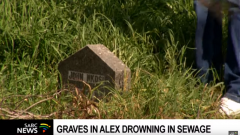Graves and Tombstones sinking into raw sewage.