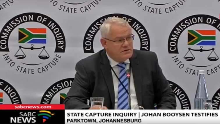SABC News Johan Booysen - Booysen to continue his testimony at the State Capture Inquiry