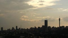 A silhouette of the city of Johannesburg is seen November 7, 2009.