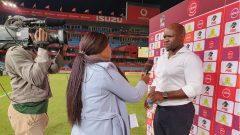 Komphela being interviewed