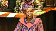 Rural Development Minister Maite Nkoana Mashabane speaking in Parliament.