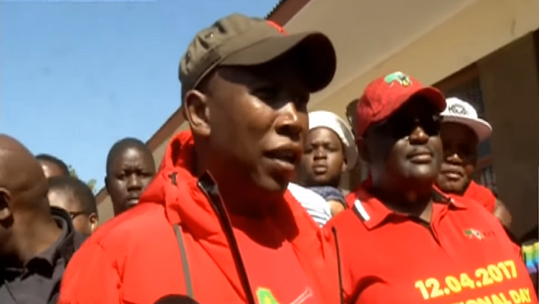 SABC News Malema speaks after vote 1 1 - EFF stands with IEC as smaller parties threaten court action