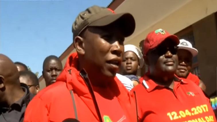 Malema speaks after vote.