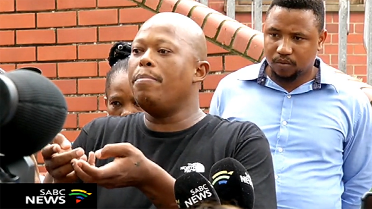 Mandla Maphumulo speaking to journalists