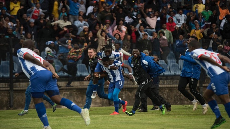 Maritzburg United players on the field