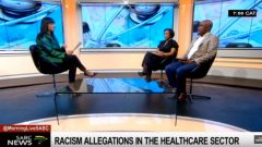 Clinical social worker Nomaefese Gatsheni and Chairperson of the National Health Care Professionals Association (NHCPA) - Dr. Donald Gumede who are part of the group of grieved health care practitioners joined Morning Live.