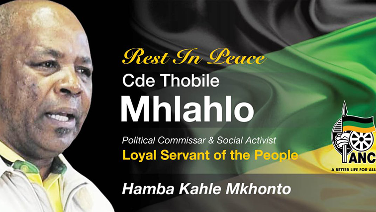 Rest in peace signage for Thobile Mhlahlo