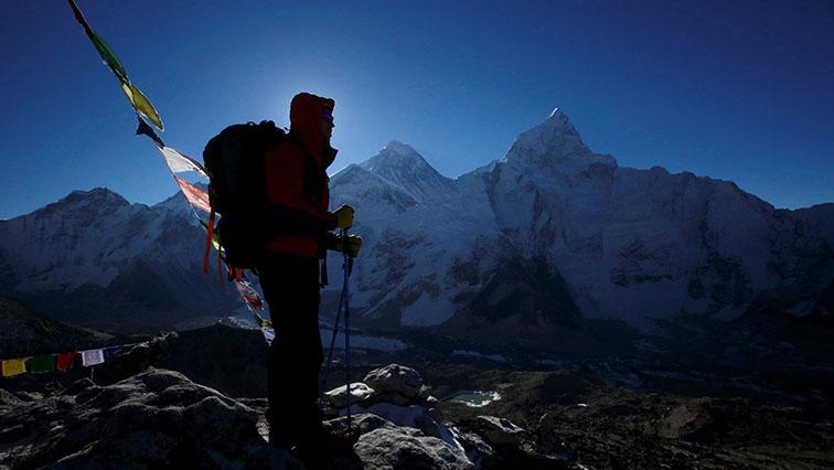 A climber on Mount Everest