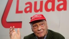 Niki Lauda addresses a news conference presenting his new airline Laudamotion in Vienna.