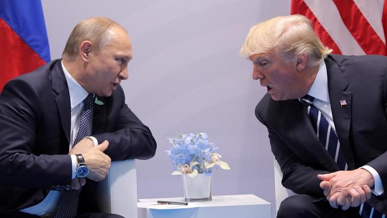 Vladimir Putin and Donald Trump speaking