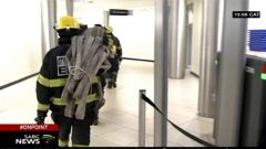 Fire fighters leaving SABC