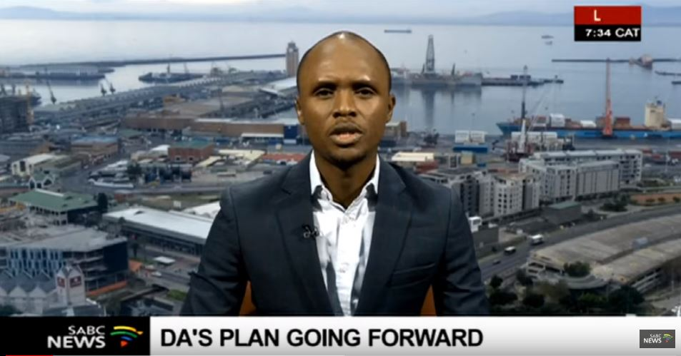 Democratic Alliance National Spokesperson Solly Malatsi speaking during an interview on Morning Live.