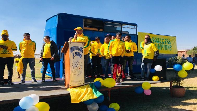 SABC News Sundowns Twitter 11 - Sundowns to parade trophy in Pretoria on Tuesday