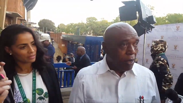 Tokyo Sexwale and wife.