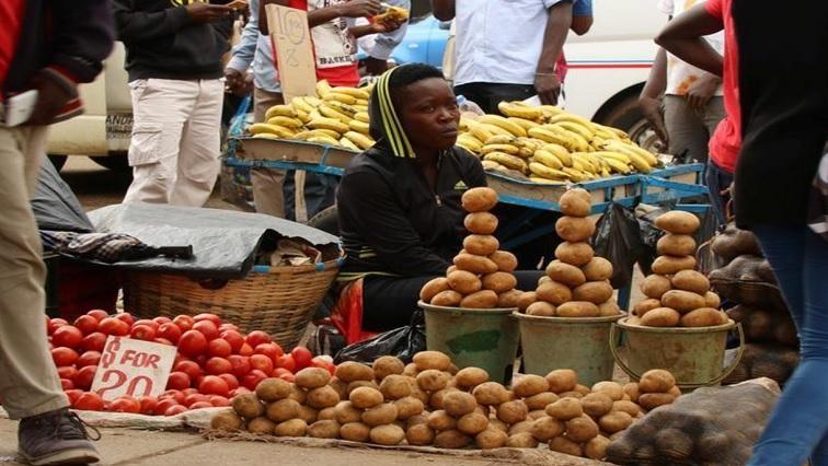 Food at a market