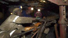 Mineworkers underground