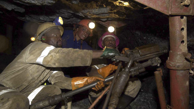 SABC News miners4 - CAPM mine workers continue underground wage protest