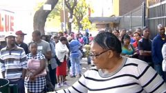 People queuing outside Home Affairs office in Pretoria