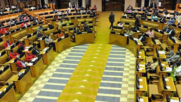 Inside South Africa's parliament