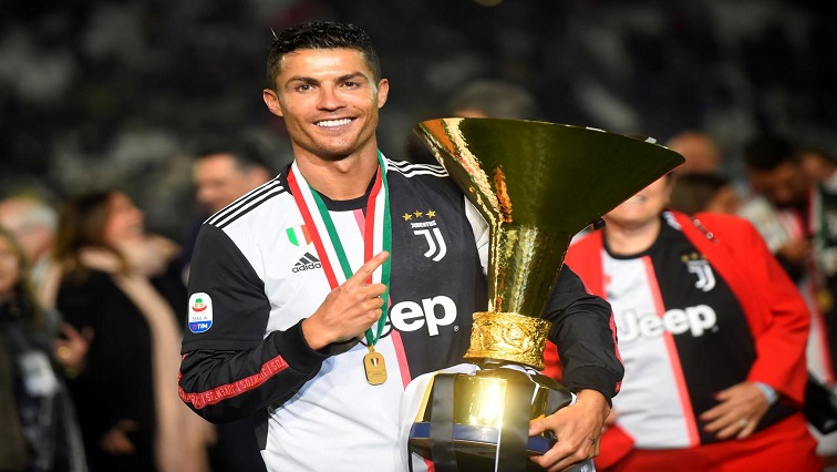 Ronaldo holding a cup