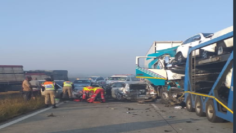 SABC News N1 freeway accident Twitter@AsktheChiefJMPD - Multi-vehicle collision on N1 Johannesburg