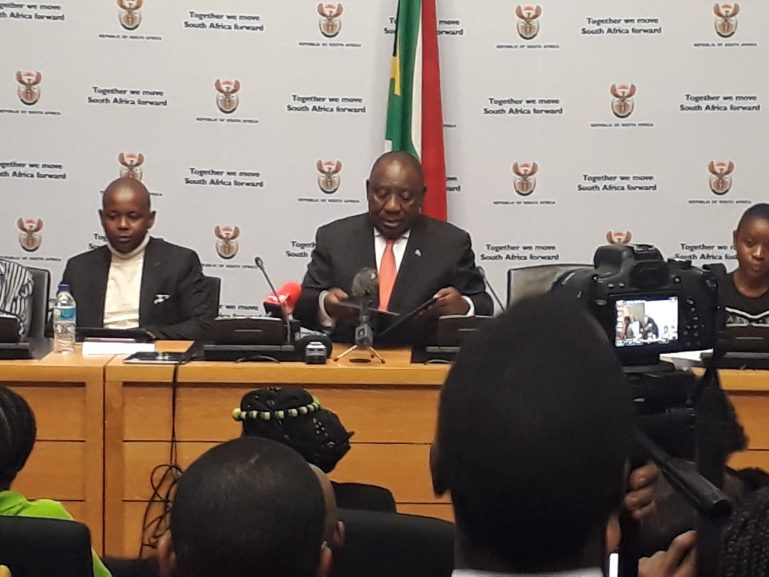 President Ramaphosa on Wednesday interacted with youth in a NYDA presidential youth dialogue.
