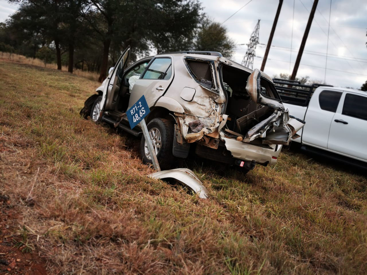 A car involved in an accident in Limpopo.