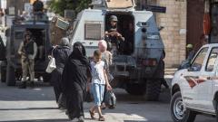 Egypt citizens on the street