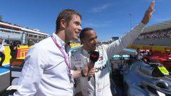 Lewis Hamilton speaking
