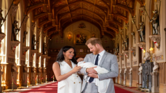 Harry and Meghan with their son